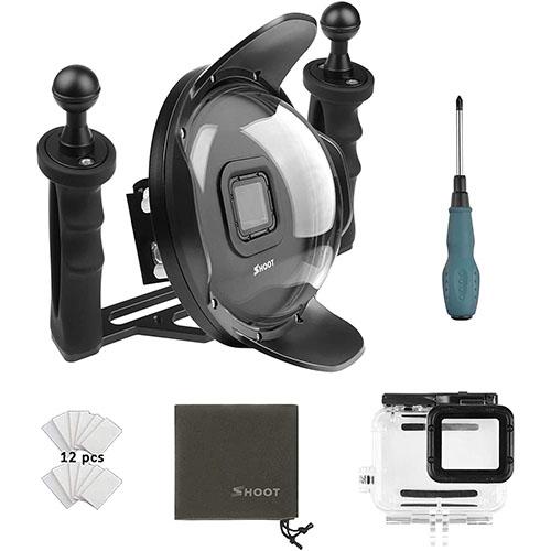Pack estabilizador, carcasa y lente GoPro